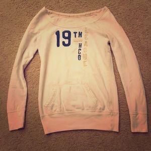 Hollister - Tan/White Long Sleeve Warm Sweatshirt